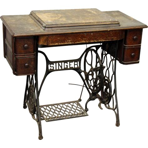 Sewing Stand by Singer Sewing Machine Table Duo From Oldegoodthings On