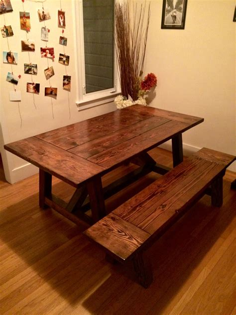 ana white  truss table  bench diy projects