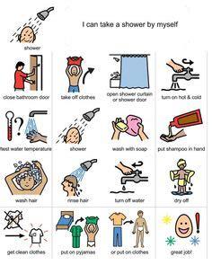visual schedule for showering 18 best toilet visuals images autism autism