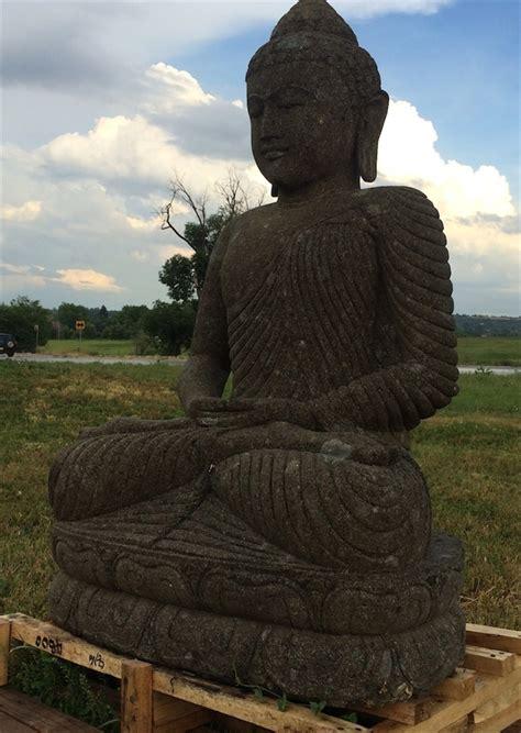 ft big sitting stone buddha statue  peaceful yoga sutra