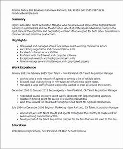 Talent Acquisition Cover Letter 1 Talent Acquisition Manager Resume Templates Try Them
