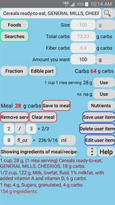 Diabetes Carb Counter For Type 1 Diabetics Android Apps