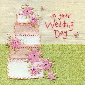 Day Card Online Hand Finished Wedding Cake Wedding Day Card Karenza Paperie