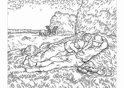 Gogh Van Coloring Pages Vincent Printable Painting