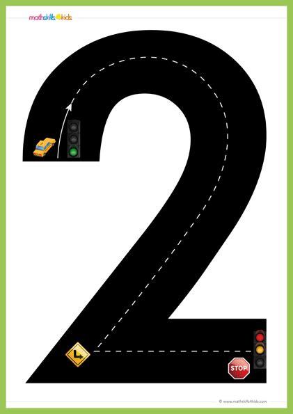 road numbers math training game pre   printable