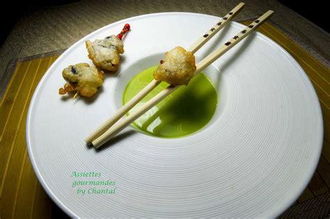 cuisiner le cresson huîtres en tempura coulis de cresson citron confit et