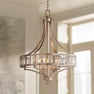 Soft Silver 4 Light 24quot Wide Crystal Chandelier