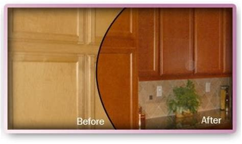 restain kitchen cabinets before and after before and after restaining in cherry color maple 9241
