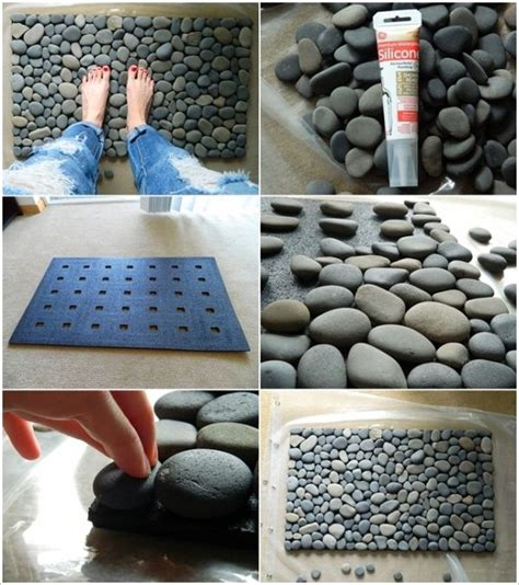 river rock doormat become a diy expert with these 25 projects