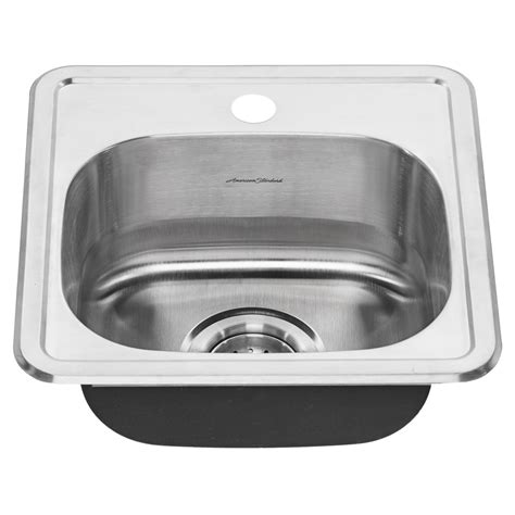 colony top mount   single bowl stainless steel