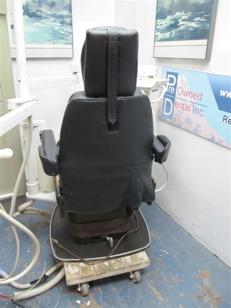 chayes virginia patient chair in black pre owned dental inc