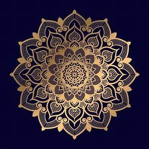 Single, Floral, Golden, Mandala, Design, 935698, Vector, Art, At