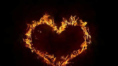 fire heart wallpaper wallpapers
