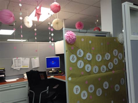 Birthday Decors for work cubicle ;)