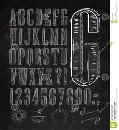 Vintage Chalkboard Lettering Font Alphabet