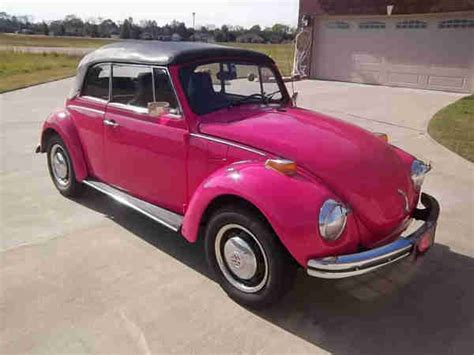 Pink Convertible Car For Sale by 1971 Pink Beetle Convertible For Sale Oldbug