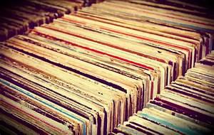 Vintage Vinyl Record Collection Fine Art Print Vintage