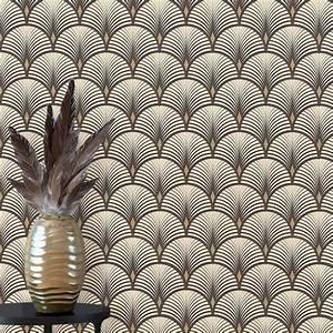 Papier Peint Noir Et Doré : papier peint baker vinyle sur intiss graphique noir et dor texture art deco wallpaper ~ Melissatoandfro.com Idées de Décoration