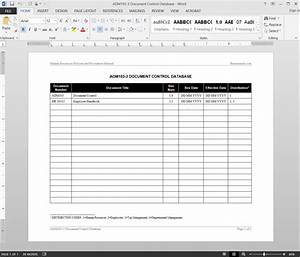 hr document control database template adm103 3 With document control database template