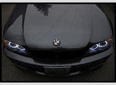 2X 82mm Real Carbon Fiber BMW BlackSilver HoodTrunk