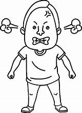 Angry Coloring Face Pages Drawing Person Anger Man Mad Bad Boys Template Cartoon Getdrawings Sketch Clipartmag Sheets Getcolorings Guys Inside sketch template