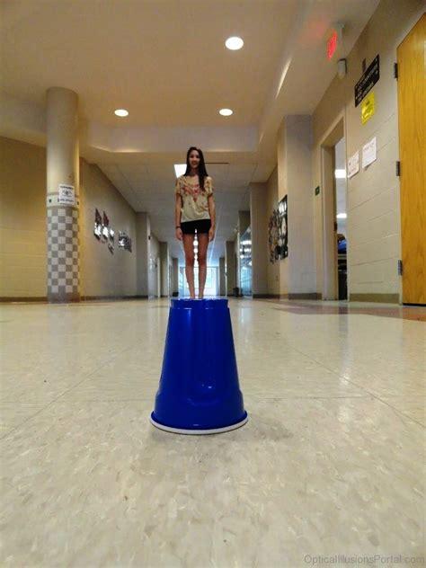 elegant shape  size optical illusion