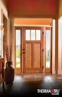 therma tru fiberglass doors Therma-Tru Classic-Craft American Style fiberglass door with energy-efficient Low-E glass and ...