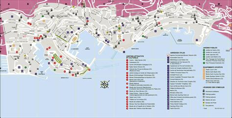 maps  monaco detailed map  monaco  english