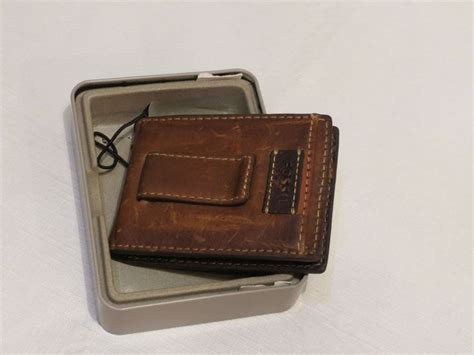 ml3468231 fossil wilson bifold front pocket wallet money clip s id new fossil wallet