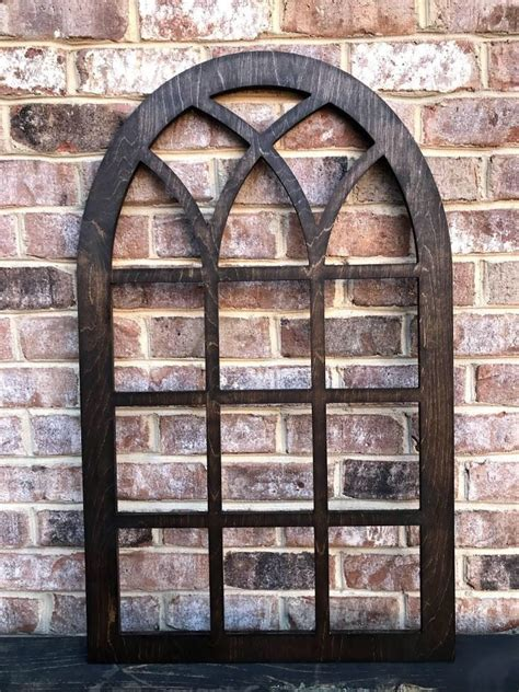 Use it in family rooms, bedrooms, offices, kitchens or dining rooms. Arched Farmhouse frame, faux window, arched, stained, custom arch, shabby chic, wall hanging ...