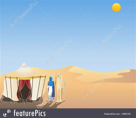 arabian desert illustration