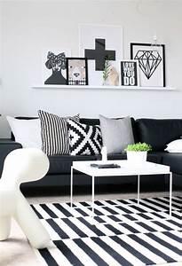 Tapis Ikea Noir Et Blanc : le tapis scandinave 100 id es partout dans la maison ~ Teatrodelosmanantiales.com Idées de Décoration