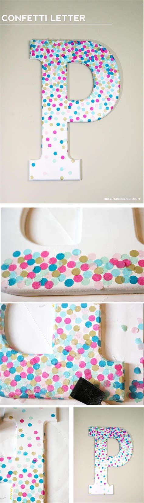bricolage chambre b diy wall confetti letter lettres bricolage et chambres