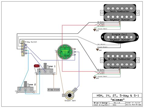 Fender Wiring Schematic 2 1 Volume Tone 5 Way Switch by Need Wiring Diagram For An Hsh 1 Volume 2 Tone S 1 Switch