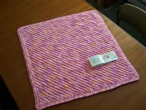 Diagonal Baby Blanket Knitting Pattern