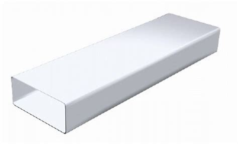 gaine pour hotte de cuisine 1 5 m de gaine rectangulaire en pvc blanc 220 x 90mm ct229b