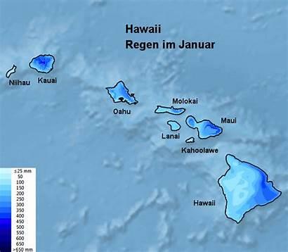 Hawaii Reisezeit Regen Januar Beste Februar Karte