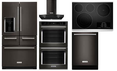 Black Stainless Steel Kitchenaid Package Coastal Side Table And Chair Rentals Nyc 4 Person Dining Small Wooden Behind The Couch Tables Sears Pool Restoration Brands List