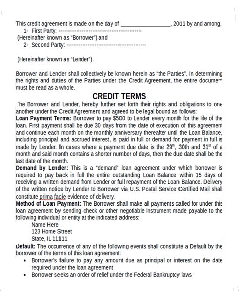 sample  party contract template   documents