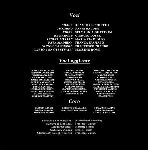 shrek 2 italian credits png voice wiki powered by wikia