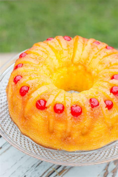 pineapple upside  bundt cake kendras treats bundt