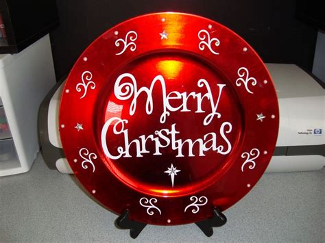 ideas for christmas plate designs 77 best cricut charger plates images on charger plate crafts charger plates and