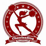 Cheer Cheerleader Cheerleading Silhouette Vector Badge Logos