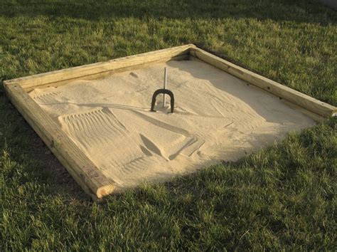 Horseshoe Pit Dimensions Backyard by How To Build A Regulation Horseshoe Pit Livestrong