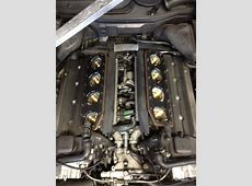 BMW E39 M5 49l V8 with engine cover off exposing the 8