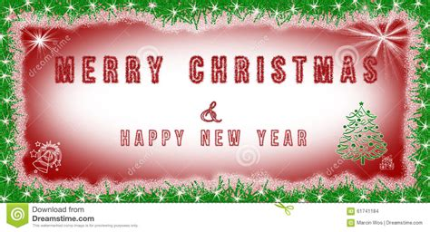 merry christmas happy  year text written  red