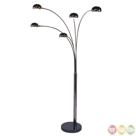 Living Room Lamps Walmart by Mushroom Black Marble Base 5 Light Arc Floor Lamp 4035