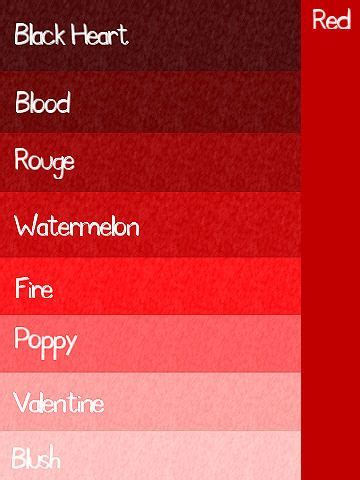 different color reds best 20 shades of ideas on color
