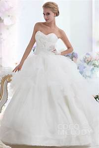 cocomelody ball gown sweetheart chapel train organza With ball gown style wedding dresses