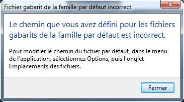 default family template file invalid lebimensuisse revit 2015 vous ne trouvez pas les librairies